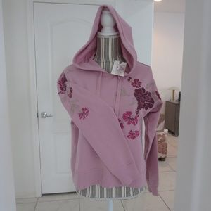 Jessica Simpson BRESSIA Embroidered Hoodie Rose